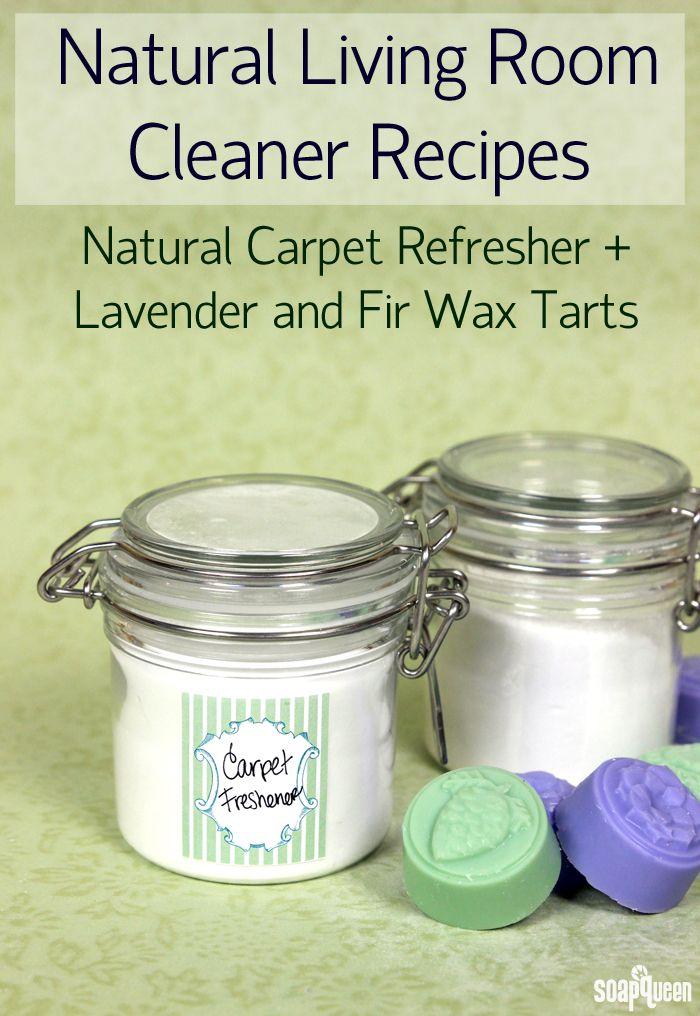 Natural Living Room Cleaner - Carpet Refresher & Fir Wax Tarts