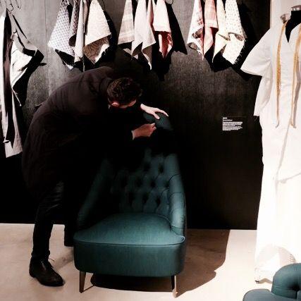 Vanessa Capitonnè armchair #denim #newcraft #21triennale #design #milan #fromitalywithlove