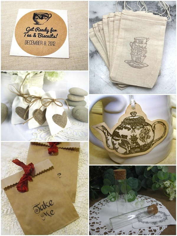 Etsy Finds. Tea favor ideas