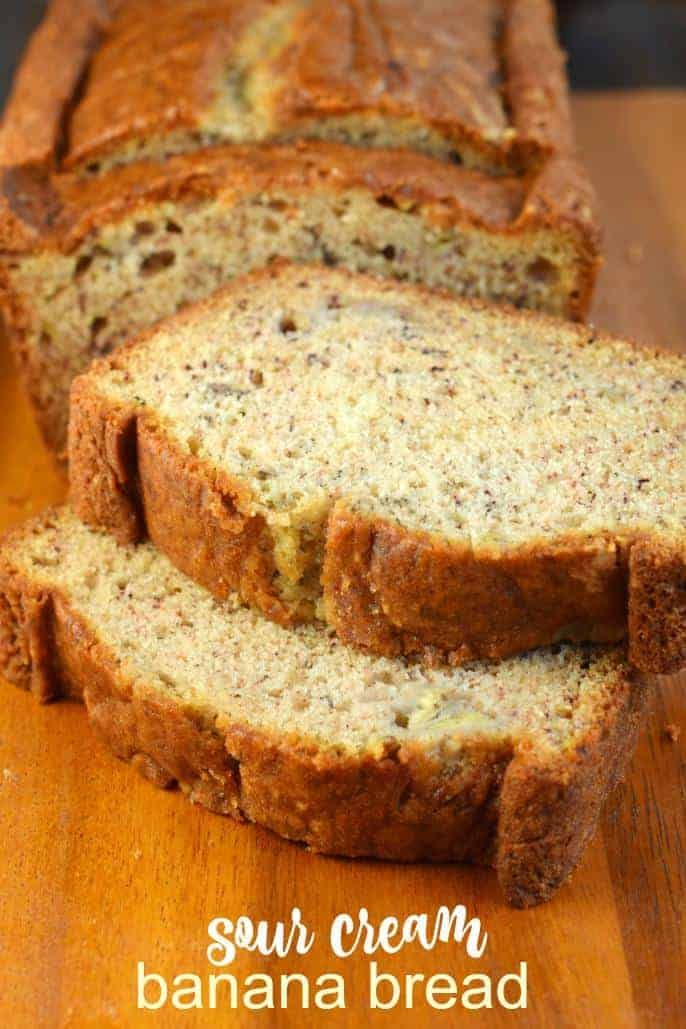 Add A Little Texture And Tang To Your Breakfast With This Sour Cream Banana Bread The Addition Of Sour Cr Sour Cream Banana Bread Pumpkin Bread Recipe Recipes