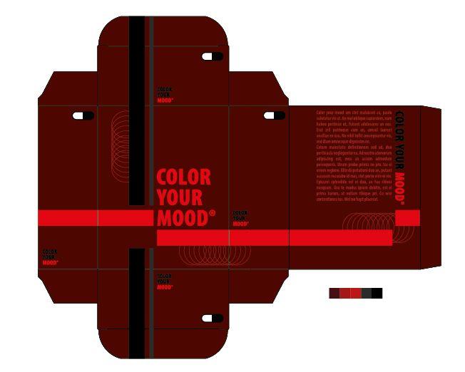 """Passioneel: nr.3 van de 3 beste kleurpaletten mits aanpassingen Ik koos voor dit kleurenpallet, omdat ik bij passioneel denk aan vurig. Het rode is dus gebaseerd op het vurig. Daarnaast is passioneel ook een warm gevoel, vandaar de donkere kleuren. Af en toe zit er een lichtere/felle kleur tussen, dit verwijst naar het woord """"beweging"""" dat ook bij me opkwam bij dit gevoel"""