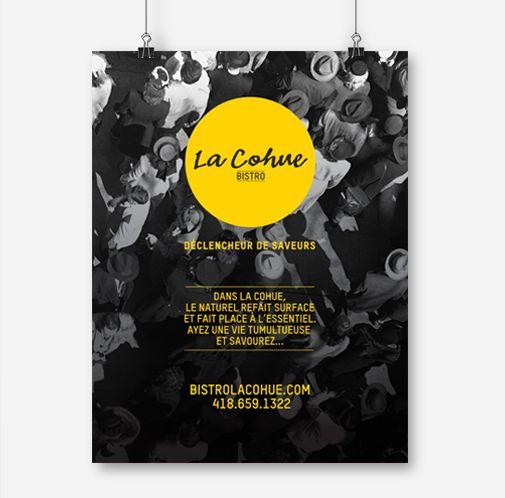 La cohue / Affiche promotionnelle / Beez Créativité Média