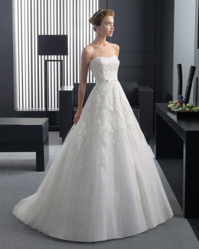 優雅な ビスチェ ホール A ライン ブライダルドレス ウェディングドレス Hro0121