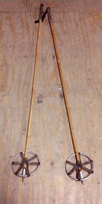 "Pair Antique Bamboo Ski Poles from Old Ski Lodge 48"" Length | eBay"