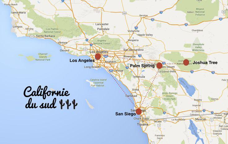 Carte Californie Du Sud Itineraire Pour Un Road Trip Usa De 15 Jours Que Faire Que Faire Je Vous Dis Carte Californie Californie Du Sud Voyage En Famille