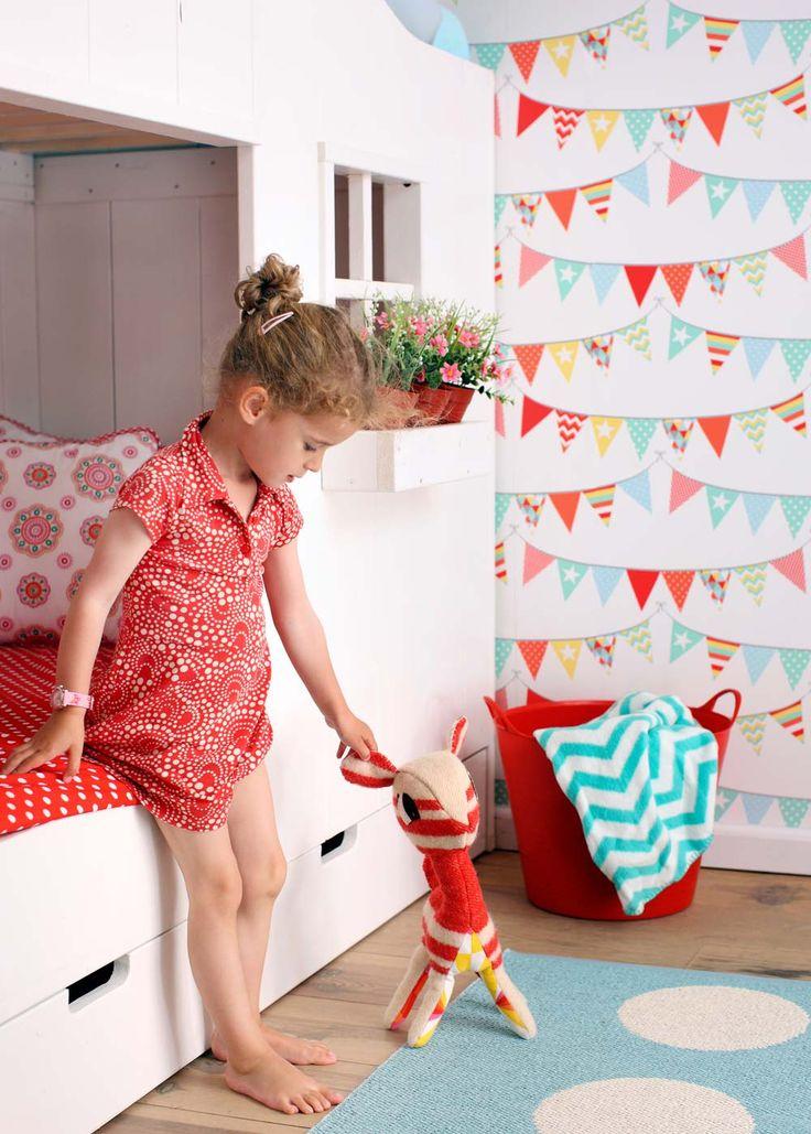 Everybody Bonjour - eine zauberhafte Tapetenkollektion für Jungen & Mädchen. http://www.kinderraeume.com/Everybody-Bonjour/