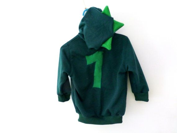 Toddler boy hooded jacket Dinosaur jr. green by ElliandPaul