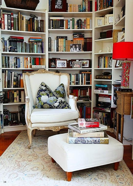 Inviting reading nook.