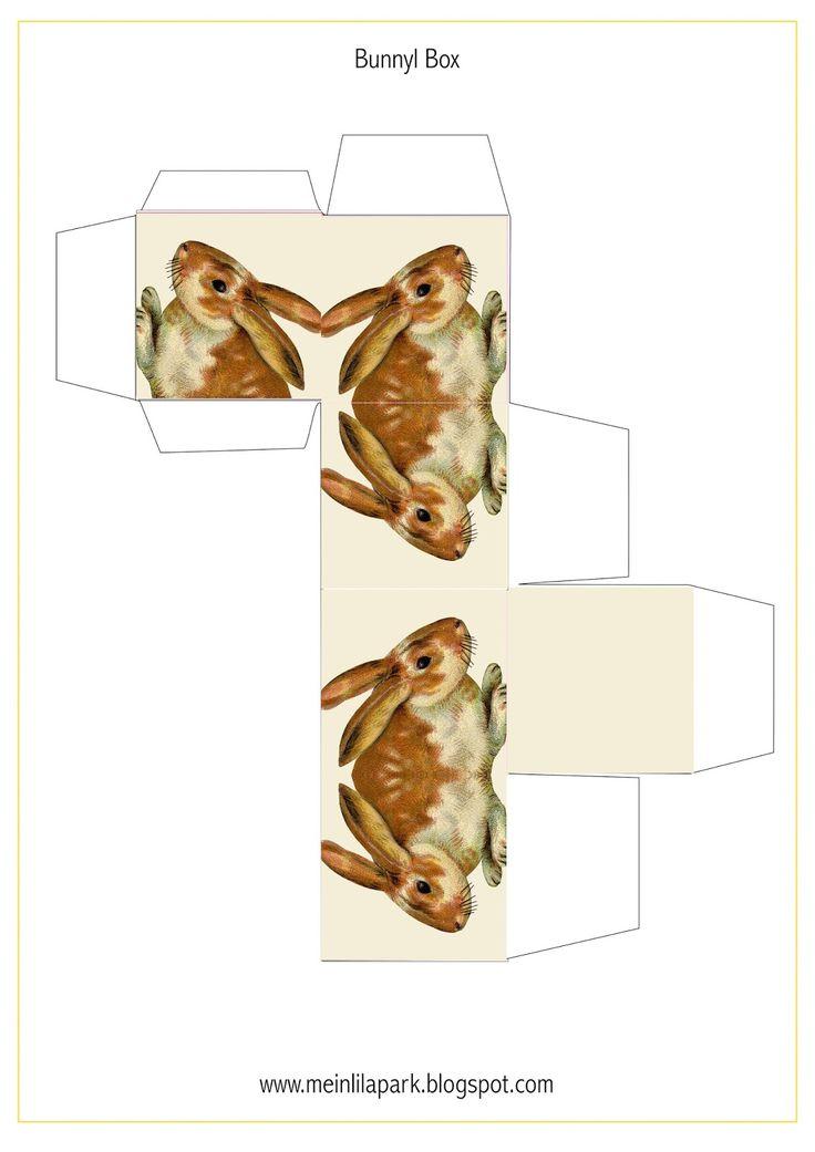 Free printable bunny box - ausdruckbare Geschenkschachtel - freebie | MeinLilaPark – DIY printables and downloads