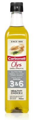 Olys combines the health benefits of rice bran, corn, wheatgerm, walnut and blackcurrant oils into an innovative cooking oil. Olys is a natural source of Omega 3&6, Vitamin E and plant sterols (Oryzanol) Olys provides alpha linolenic acid (Omega 3) and linoleic acid (Omega 6), both are essential fatty acids, which are necessary for a balanced diet.