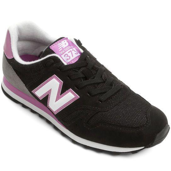 Tênis New Balance 373 Retrô Running - Preto+Rosa