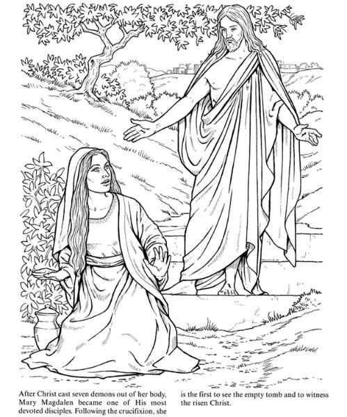 coloring pages mary and jesus - photo#36