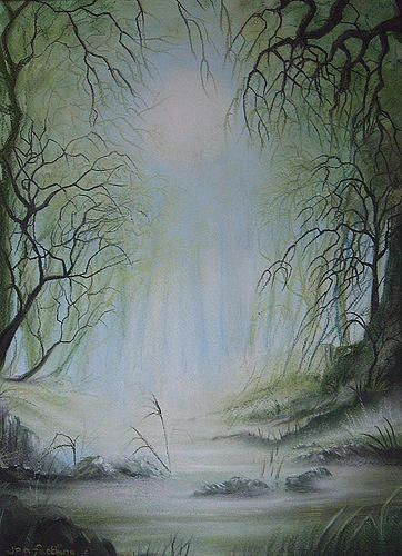 Enchanted Forest Painting by Jan Farthing