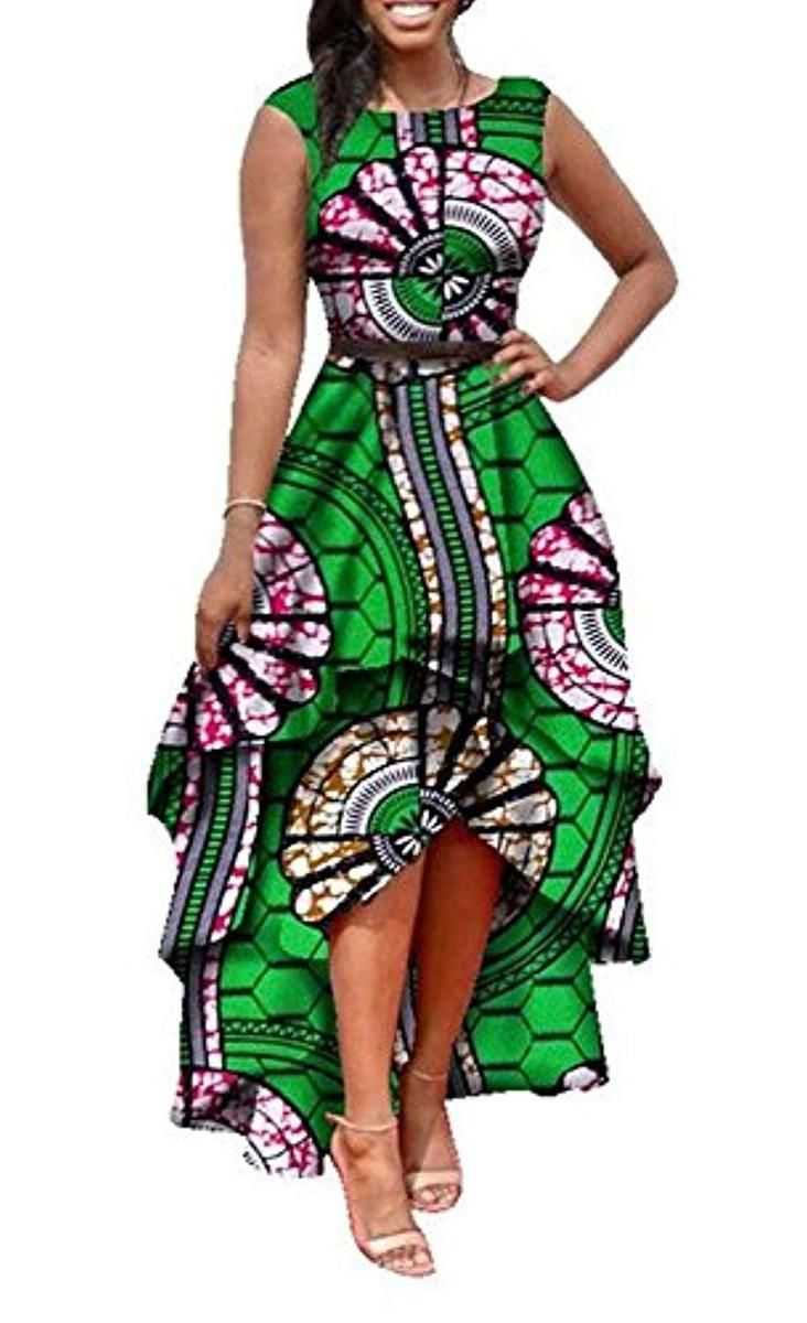 Runcati Womens African Dress Formal Prom Dashiki Print