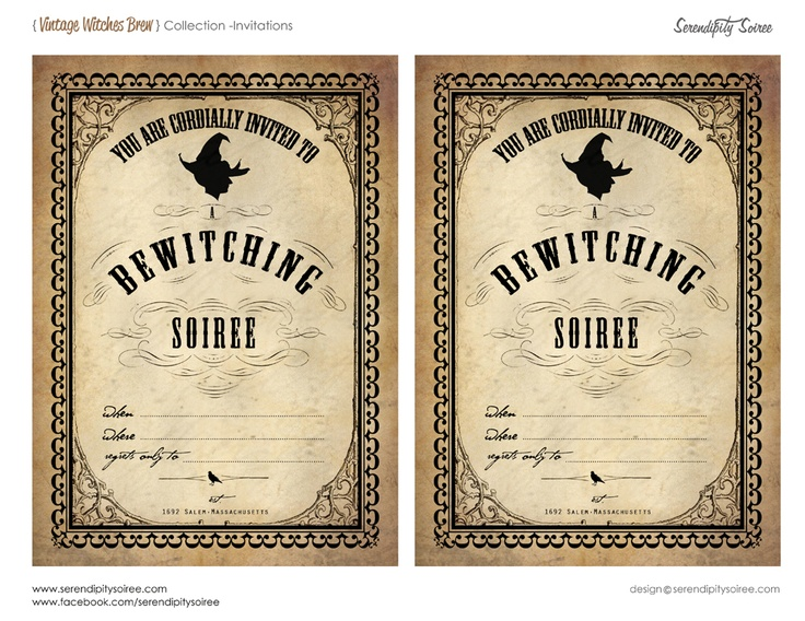 13 best Halloween Party Invitations images on Pinterest Halloween