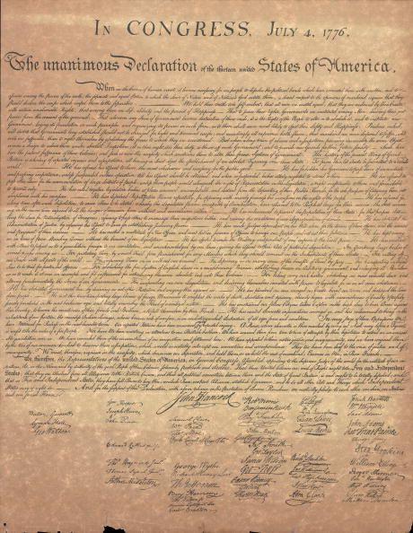 Las causas de la Independencia de Estados Unidos: Declaración de la independencia