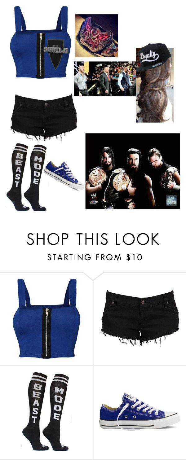 """""""Fued W/ Evolution   Random WWE Outfit"""" by hayles-rayne1 ❤ liked on Polyvore featuring WearAll, Converse and Champion"""
