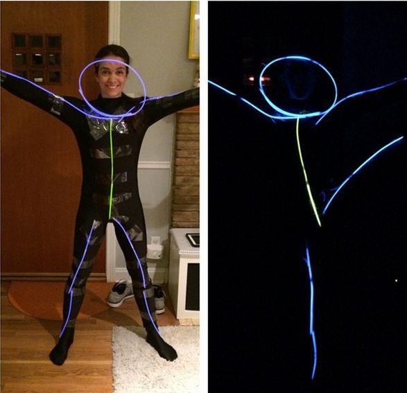 DIY Glow in the dark Stick People