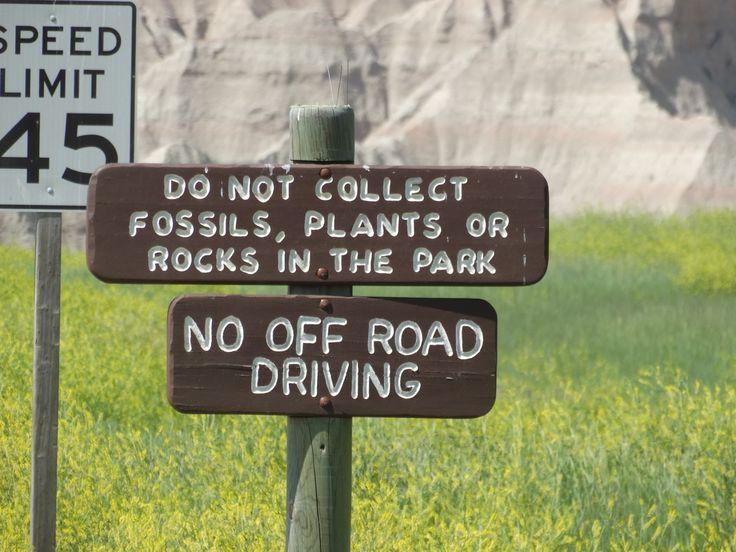 Entering The Badlands National Park, Via Interior, SD
