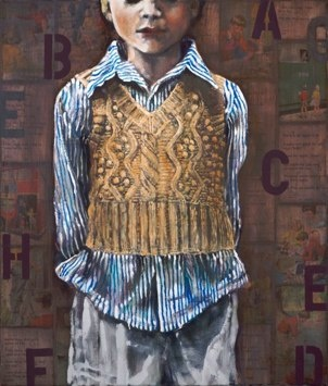 Sophie Gralton  Home Knit Limited Edition Giclee  Approx 60x80cm