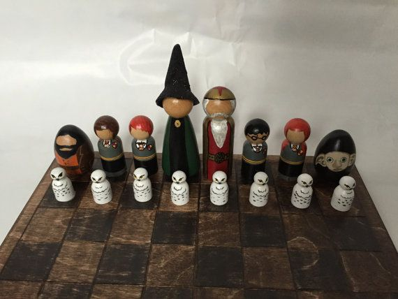 Harry Potter Chess Set by EverlastingBits on Etsy