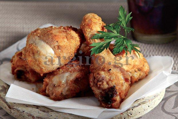 Πικάντικο κοτόπουλο πανέ με τυρένια κρούστα