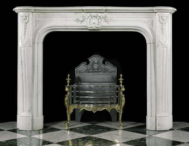 Antique White Marble Louis XV Fireplace Mantel | Design ...