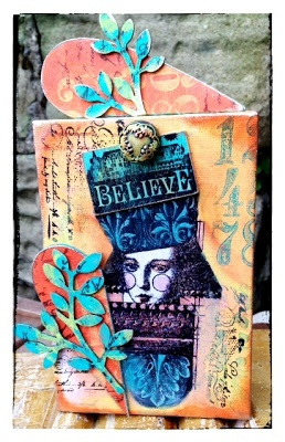 this from Gillian Simpson using Frescos and Lynne Perrella Stamps.