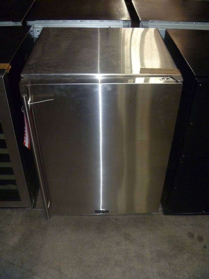 """April 23, 2012 auction. Bidding begins at $100.00.    AGA Marvel Refrigerator, model 60ARM, stainless steel with stainless steel door as shown. 60ARM has a temperature range of 33 F- 52 F and includes 2 shelves to store meat, beverages, etc. It is suitable for both outdoor and indoor use. 120 v. 23-7/8""""W x 34""""H x 24-3/8""""D. This unit is fully operational but was a floor model, warehouse scratch/dent item, or store return. Sells as is."""