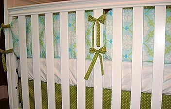 Tutorial on making your own crib bumper.