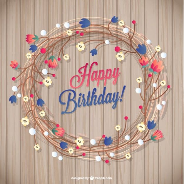 145 best birthday images on pinterest happy birthday greetings floral birthday card free vector exclusive for freepik bookmarktalkfo Images