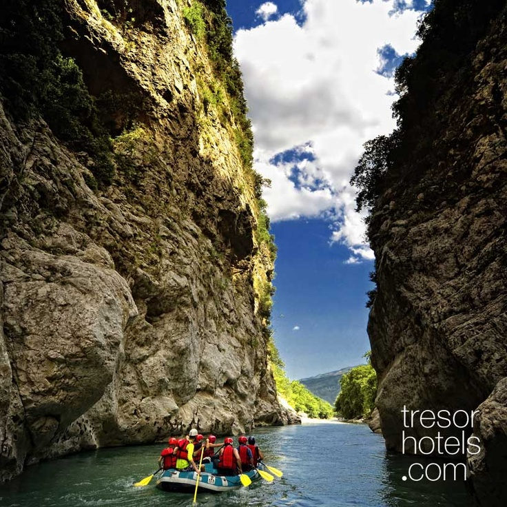 Trésor Hotels and Resorts_Luxury Boutique Hotels_#Greece_ #Arachthos is the best river for #rafting in #Greece. Get ready and enjoy an unforgetable trip in #Arachthos #River and waterfall.