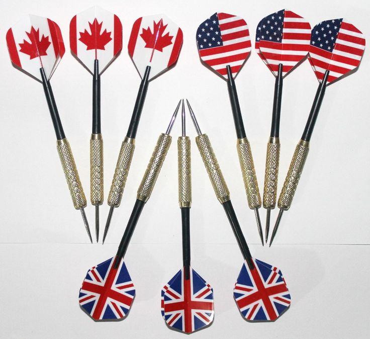 O envio gratuito de dardos dardo de cobre agulha 20 tipos de seleção padrão da bandeira Americana B1