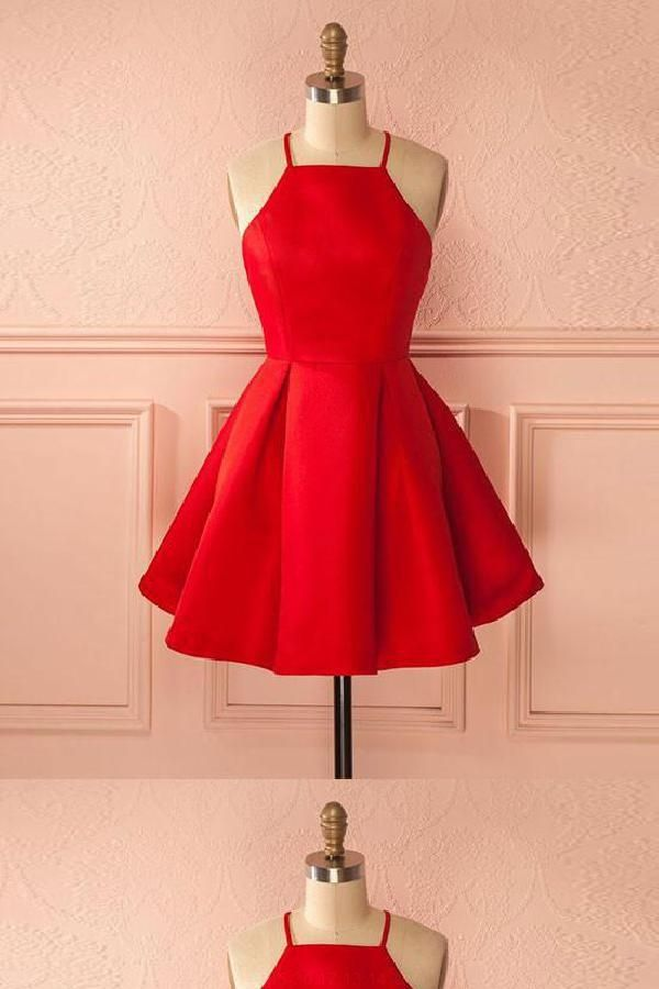 Red Short Teen Homecoming Dresses