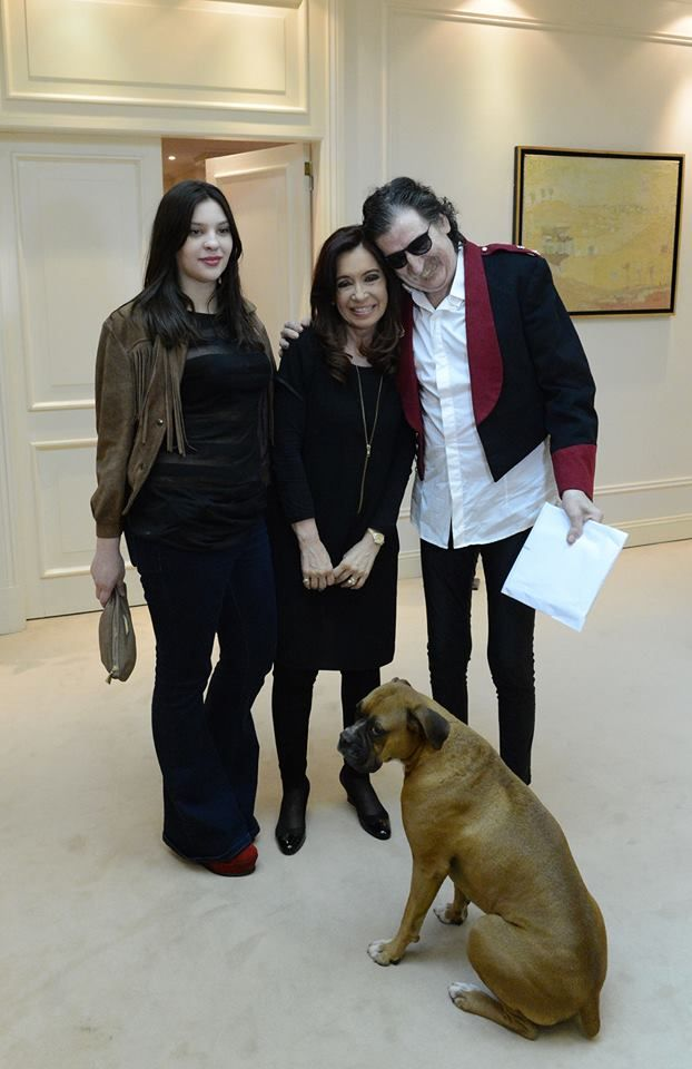 Con Charly García, su novia… y Martita, en Olivos,... | Cristina Fernández de Kirchner