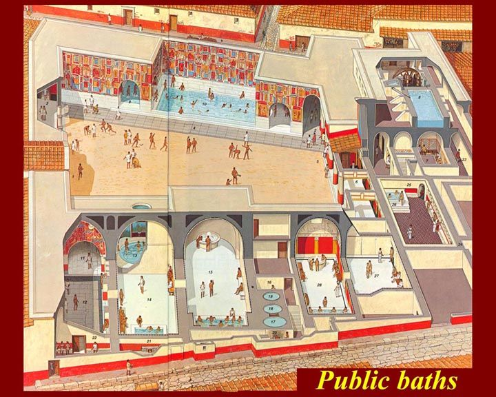 the public baths romeinse kunst