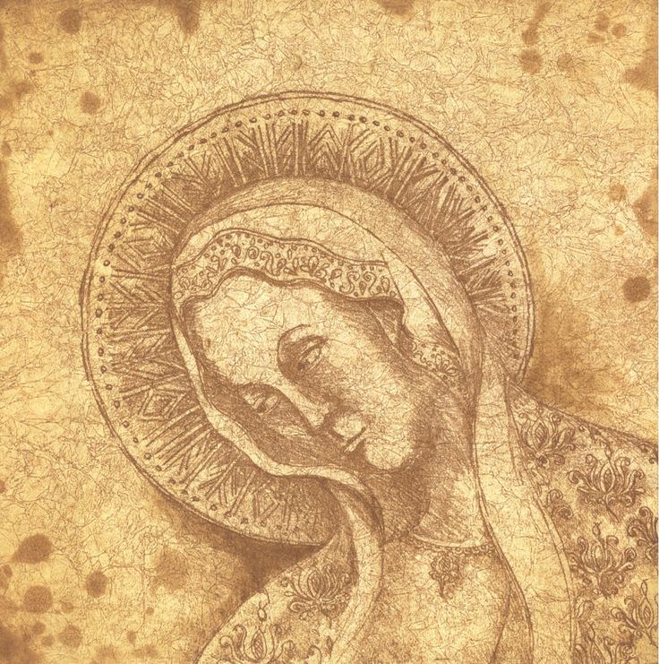 Madonna etching Artist Sandi Rigby