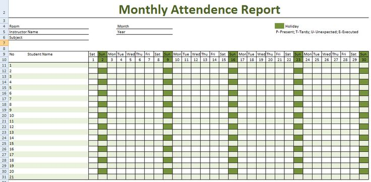 How to Keep Record of Employee Attendance – Microsoft Excel Template and Software