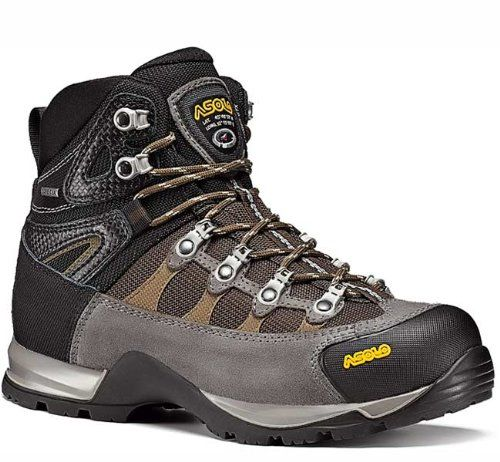 Top rated backpacking boot.  Asolo Stynger GTX Women's Backpacking Boot – Size 8.5 Cendre/Dark Brown | Your #1 Source for Sporting Goods & Outdoor Equipment