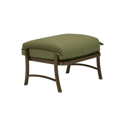 Tropitone Montreux II Ottoman with Cushion Finish: Parchment, Fabric: Sparkling Water
