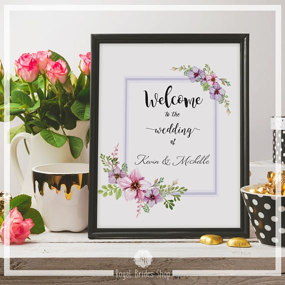 Check out this item in my Etsy shop https://www.etsy.com/uk/listing/528068557/printable-wedding-sign-welcome-to-the