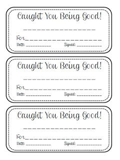 Caught You Being Good! - quick easy way to send positive notes home