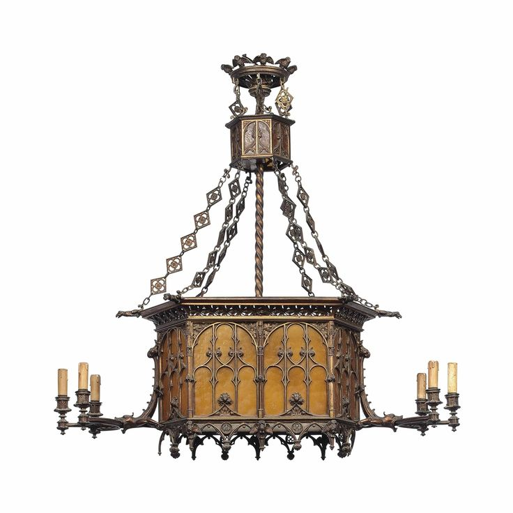 271 best antique chandeliers images on pinterest antique a french bronze and glass six light chandelier in the gothic taste late aloadofball Choice Image