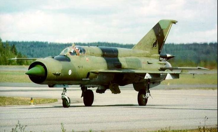 A Mig-21 from the Finnish Air Force.