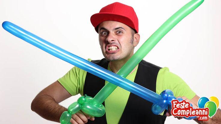 """Balloon Sword, How to Twist a sword with balloon, balloon Pirate Sword.  La figura che vi presentiamo oggi è """"La Spada Pirata"""", nonostante la sua facilissima realizzazione, garantisce un risultato veramente d'effetto, in grado di stupire grandi e piccini! Perché in fondo dentro siamo tutti un po' pirati."""