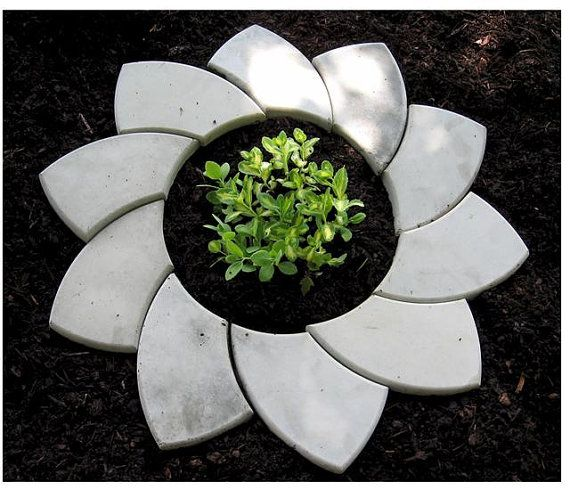 Concrete Molds for Landscapes Tree and Flower Rings by stonehook, $36.00