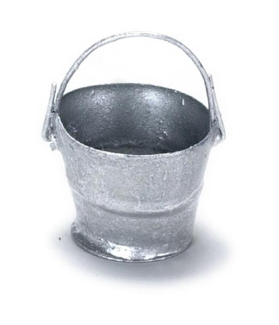Miniature Tin Buckets Dollhouse Scale Miniature Washing Tub Miniature Tin Tub