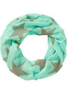Шарф-снуд «Звезда», bpc bonprix collection, мятно-зеленый