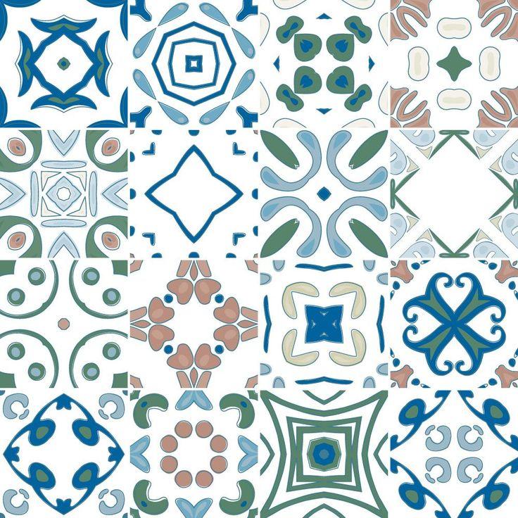 Adesivo de azulejo hidráulico 6009