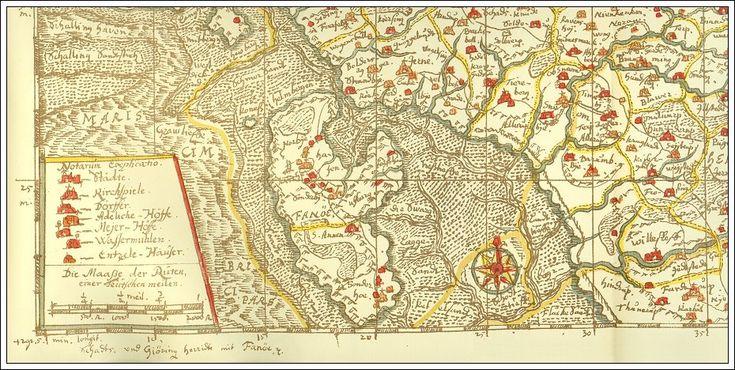 Fra Ho bugt til Gørding - Denmark - Johannes Mejers kort 43 i hans håndtegnede Kort over det danske Rige